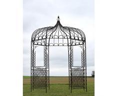 Gloriette Tonnelle Kiosque en Fer de Jardin Marron ø200 cm