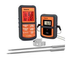 ThermoPro TP-08 Thermomètre de cuisson numérique 100 mètres à distance- Sonde double pour Barbecue/Griller/Four/Viande
