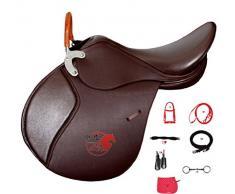 Selle d'équitation en cuir de selle de cheval de selle en cuir selle de cheval springsa ttel