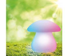 Borne solaire Fungi, 50 lumens, lumière blanche et multi-color