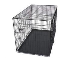 Maxx Cage de Transport Pliable pour Chiens 91 x 58 x 64cm, Chats, Chiots, Chatons et Animaux Domestique, en métal, Cage Chien, Pliable, Caisse de Transport pour la Voiture, 2 Portes