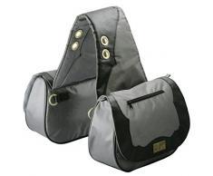 TrailMax Sun River Collection - Sacs de selle pour cheval - gris/noir