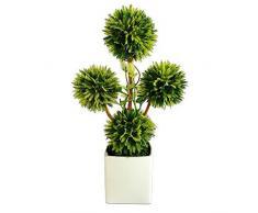 VGIA plantes artificielles topiaire avec pots Bonsai Décoration Blanc