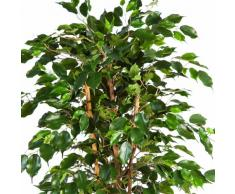 Ficus Exotica artificiel en pot, 495 feuilles, vert, 120 cm - ficus synthétique / arbuste artificiel - artplants