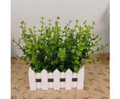 Vive Fleur Artificielle Eucalyptus Salicaire pour Homme Décor du Mariage New Herbe Plante