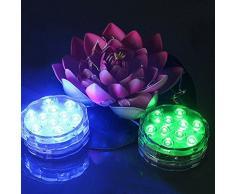 Lampe Submersible Aquarium, niceEshop(TM) LED Submersible, Lampe d'Ambiance Imperméable LED Lumière avec la Télécommande Changement de Couleur, Lumière Étanche pour la Fête, le Mariage, la Piscine (Blanc)