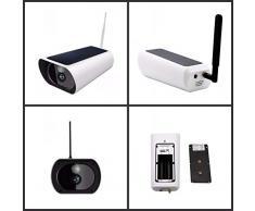 QOUP Caméra Solaire 1080P HD 4G, Carte sans Fil étanche de Grande capacité IP66 étanche pour Chantier de Construction extérieur, verger, étang, caméra sans Fil résistante aux intempéries