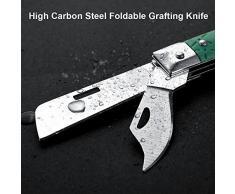 Couteau à greffer - Couteau à greffer pliable en acier à haute teneur en carbone, avec poignée ergonomique, outil d'arbre fruitier de jardin