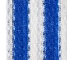 Brise vue casa pura® pare vue canisse | balcon, jardin | occultant, résistant aux intempéries | 90x500cm - bleu et blanc