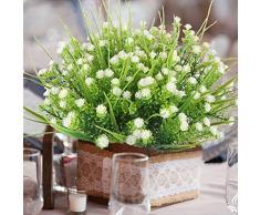 Houda Arbuste artificiel 4 branches d'eucalyptus en plastique pour intérieur ou extérieur Idéal pour décorer une maison, un jardin, un bureau, une véranda, un mariage