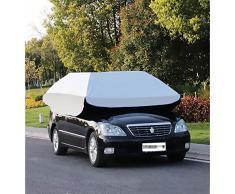 Yhongyang Tente de Voiture Voiture carport Mobile Pliable Protection de Voiture Voiture Parapluie auvent Double Usage,SilverQueen