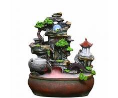 GYBJ Rockery fontaine Feng Shui boule chanceux réservoir de poissons accueil intérieur bonsaï créatif ornements,B,Taille unique