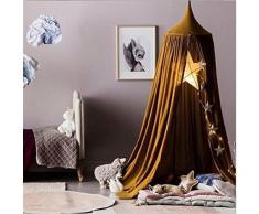 YUE-Baldaquin Ciels De Lit Moustiquaire bébé Jeux Tente Rideaux suspendue Décoratin Chambre (jaune)
