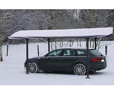 Habrita Bâche pour carport Aluminium Toit Demi-Rond