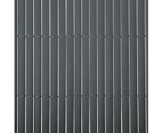 Brise vue 3m casa pura® pare vue canisse lamelle | balcon, jardin | occultant, résistant | gris - 180x300cm
