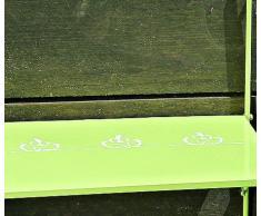 Table de balcon L55 cm Vert Fer thermolaquée