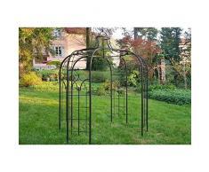 Gloriette Princess Medium Tonnelle Pergola de Jardin Abris Rond En Fer Forgé Peinture Epoxy Marron Martelé 300x300x300cm