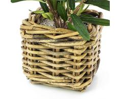Mini-Olivier artificiel en corbeille, 40 cm - olivier tergal / arbuste synthétique - artplants