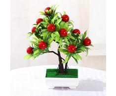 Catkoo Fleurs artificielles 1 pièce - Arbre fruitier Artificiel miniascape pour Mariage, Maison, Bureau, décoration de Noël - Décoration 2#