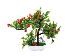 Catkoo Fleurs artificielles 1 pièce - Roses artificielles - Arbre fruitier miniascape - Décoration pour la Maison, Le Bureau - Décoration de Noël