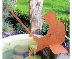 patine Figure pêcheur pour le jardin, étang