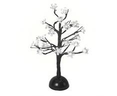The Benross Christmas Workshop Arbuste à lampes Fonctionne à piles Blanc 40cm