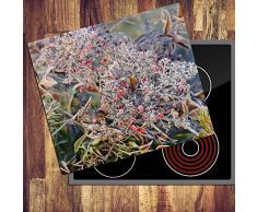 Arbuste 1 plaque 60 x 52 Planche à découper en verre herdabdeckplatte