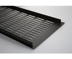Grille de ventilation en aluminium web ventilation de la plaque 150 mm x 600 mm en différentes couleurs - marron anodisé