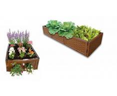 UPP jardinière surélevée modulable I carré Potager I Lot de 12 Panneaux Couleur Marron 53x24cm I Utilisable comme composteur ou bac à Fleurs