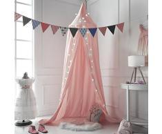 Enfants lit baldaquin, bébé literie dôme rond, Kids Princess Play tente suspendue coton moustiquaire, décorations de chambre de bébé, décoration de la chambre pour les enfants (Rose)