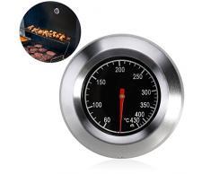 Bestomz Thermomètre de barbecue analogique pour tous les barbecues et fumoirs