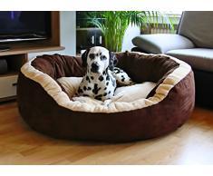 Knuffelwuff panier chien, lit pour chien, coussin, corbeille pour chien Heaven, douillet, marron-beige XXL 120 x 110cm