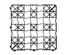 acerto 30355 8x plaque en plastique pour grille à gazon, 50 x 50 x 4 cm - praticable - 2 m² de surface gazonnée - jusqu'à 240t/m² | Plaques pour grille à gazon de haute qualité, plaques de paddock