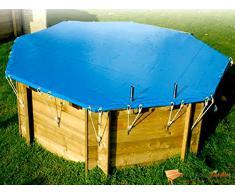 Couverture hivernage rectangulaire pour piscine bois 3.5 x 6.05 m - nortland ubbink 7504268