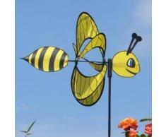 CIM Girouette - Magic Bee - résiste aux UV et aux intempéries - Ø38cm, Motif: 46x18cm, Hauteur Totale : 103cm - INCL. Tige en Fibre de Verre