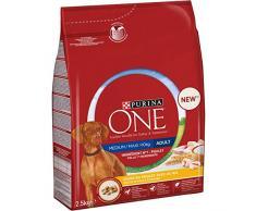 PURINA ONE Medium/Maxi > 10 kg Croquettes pour Chien, 4 Sacs de 2,5 kg chacun