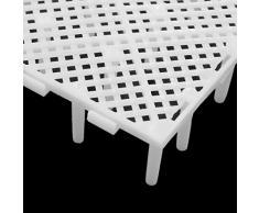 sourcing map 5pcs Plastique Blanc Conseil Séparation Grille Filtration Plaque pour réservoir Poisson Betta