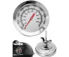 HOMETOOLS.EU® Thermomètre de cuisson analogique - Résistant à la température - Pour barbecue, grill, casseroles, faitouts, fumoir - De 10°C à 500°C