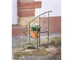 amelex 67 Escalier de Déco, Look Antique et Romantique, Forme gloriette, Métal Noir avec Patine Vert/Bleu