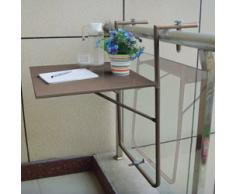 Table de balcon suspendue taupe