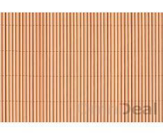 Canisse en pvc 140 x 300 cm marron clair