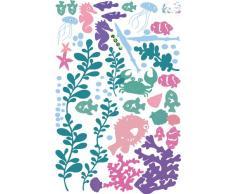 ufengke® Beaux Poissons Marins Sous-Marin Du Monde et de Plantes Aquatiques Stickers Muraux Bricolage, la Chambre des Enfants Pépinière Autocollants Amovibles