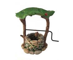 Puits aux Souhaits Miniature avec Poignée Mobile et Seau d'Eau pour Nains de Jardin - Accessoire Jardin Féerique