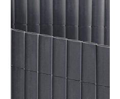 Jet 7 Garden - Canisse PVC Double - Face gris anthracite - Rouleau Hauteur hauteur 1.5 mètre