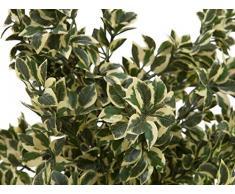 Arbuste artificiel, Ficus argenté, 6650 feuilles, vert-blanc, 120 cm - plante verte artificielle / ficus artificiel - artplants