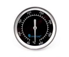 Lantelme 5831 Black 400 Series étanche en acier inoxydable Barbecue Thermomètre analogique et bimétal
