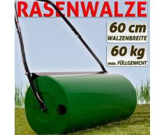 Rouleau a gazon de jardin en metal avec 60L Volume Diamètre 60 cm