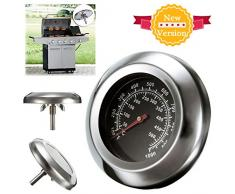 KING DO WAY Thermomètre Pour Barbecue Grille En Acier Inoxydable Outils De Barbecue BBQ Grill Thermometer Temp Gauge 49mmX75mmX13.5mm