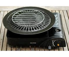 2 x grille de cuisson pour barbecue à gaz de camping Réchaud à gaz avec plaque de grill : Accessoire pour Mini/cartouches – Barbecue