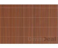 Canisse en pvc 80 x 500 cm Marron sombre